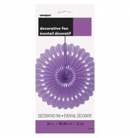 Vijolična dekorativna pahljača 40,6 cm