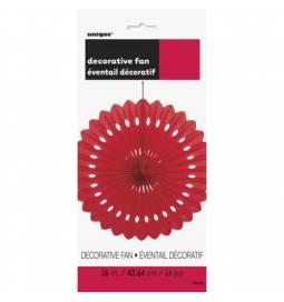 Rdeča dekorativna pahljača 40,6 cm