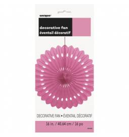 Pink dekorativna pahljača 40,6 cm