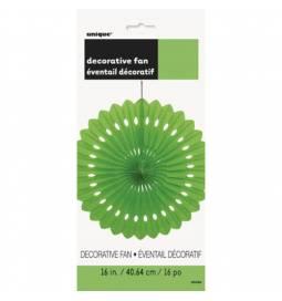 Zelena dekorativna pahljača 40,6 cm