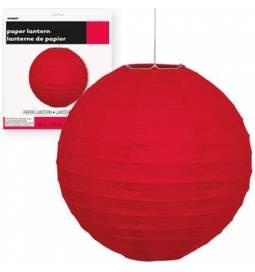 Lampijon 25 cm, rdeč