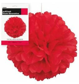 Puff Pom rdeč lampijon