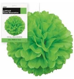 Puff Pom zelen lampijon