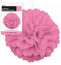 Puff Pom pink lampijon