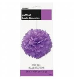 Puff Pom vijoličen lampijon