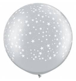 XXL lateks balon Zvezdice, zlat