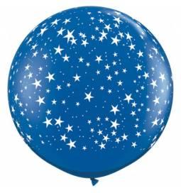 XXL lateks balon Zvezdice, rdeč
