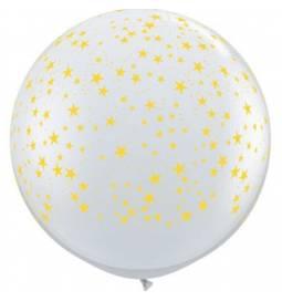 XXL lateks balon Zvezdice, moder