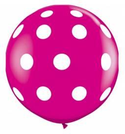 XXL lateks balon s pikami, rdeč