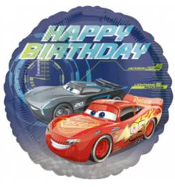 Folija balon Cars Happy Birthday