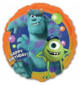Folija balon Monsters Happy Birthday