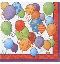 Serviete 33x33 cm, Happy Birthday Balloons 16/1