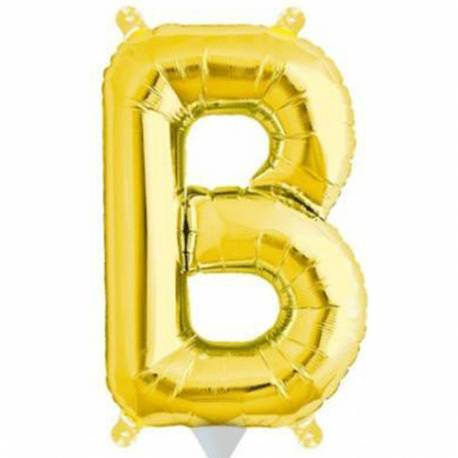 Folija balon črka B, zlata