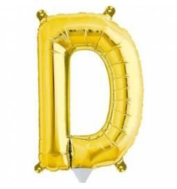 Folija balon črka D zlata