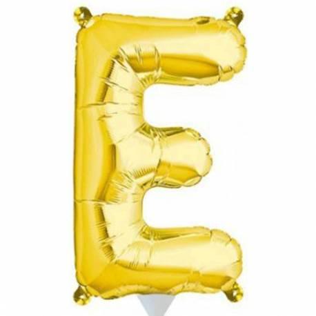 Folija balon črka E zlata