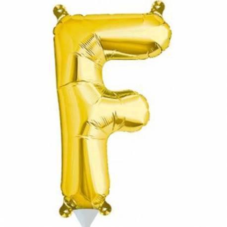 Folija balon črka F zlata