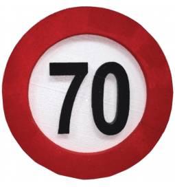 Dekoracija Prometni znak za 80 let