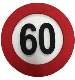 Dekoracija Prometni znak za 70 let
