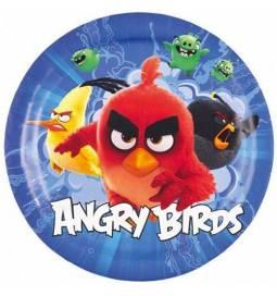 Modri krožniki Angry Birds 23 cm, 8/1