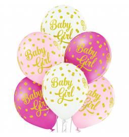 Pastelni baloni Baby Girl Dots 6/1