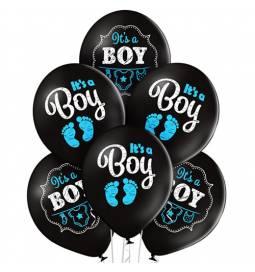Pastelni baloni Baby Boy Dots 6/1