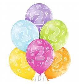 Pastelni baloni 1st Birthday Boy 6/1