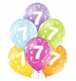 Pastelni baloni za 6. rojstni dan 6/1