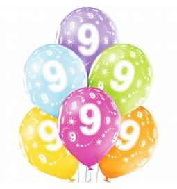 Pastelni baloni za 8. rojstni dan 6/1