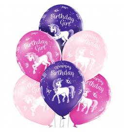 Pastelni baloni Unicorn Birthday 6/1
