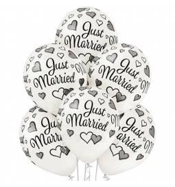 Metalik baloni Just Married 6/1