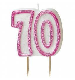 Svečka za 70. rojstni dan, Pink z bleščicami