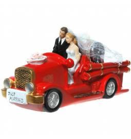 Poročni par Gasilski avto