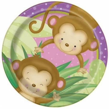 Krožniki Girl Monkey 18 cm, 8/1