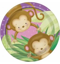 Krožniki Girl Monkey 23 cm, 8/1