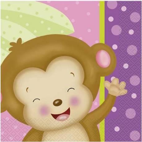 Serviete Girl Monkey 33x33 cm, 16/1
