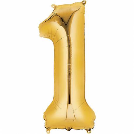 XXL balon številka 1, zlata