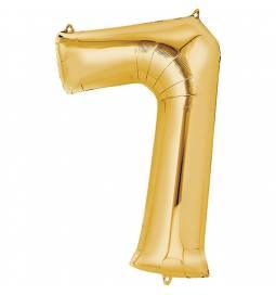 XXL  balon številka 7, zlata