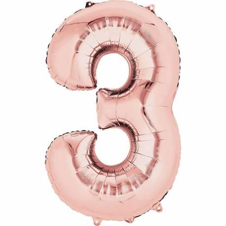 XXL balon številka 2, Rose
