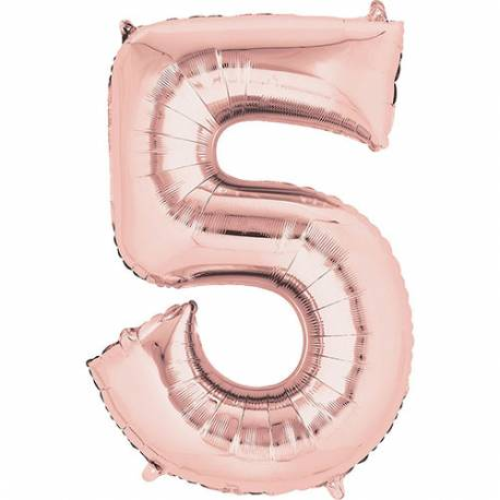 XXL balon številka 4, Rose