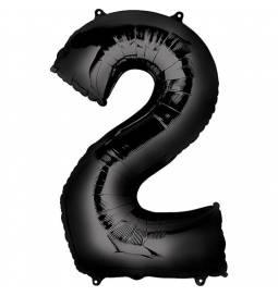 XXL balon številka 2, črna