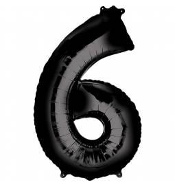 XXL balon številka 6, črn