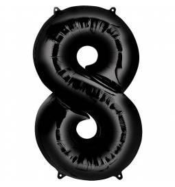 XXL balon številka 8, črna