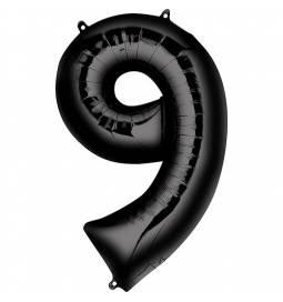 XXL  balon številka 9, črna