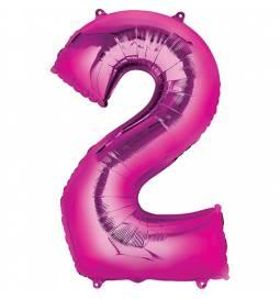XXL balon številka 2, magenta