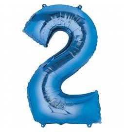 XXL balon številka 2, modra