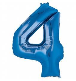 XXL balon številka 4, modra