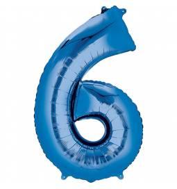 XXL balon številka 6, moder