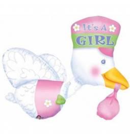 Balon za rojstvo, Pink leteča štorklja