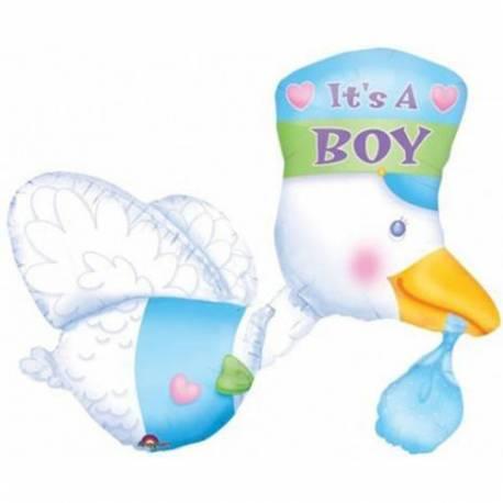 Balon za rojstvo, Modra leteča štorklja