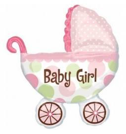 Balon za rojstvo, Pink otroški voziček